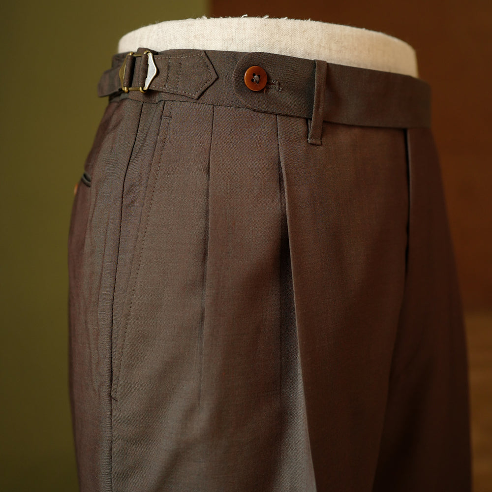 Brown Wool/Mohair Trousers