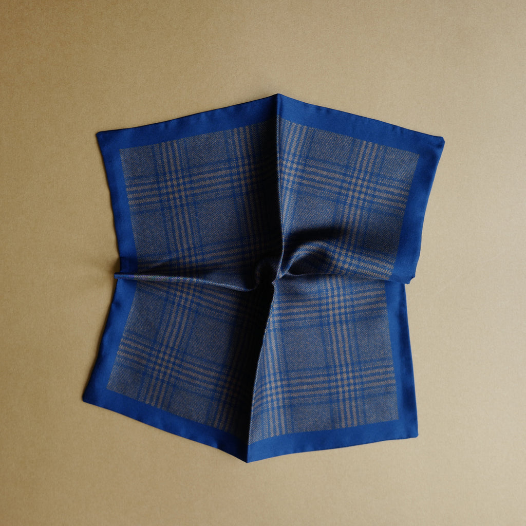 Brown Glen Plaid Pocket Square