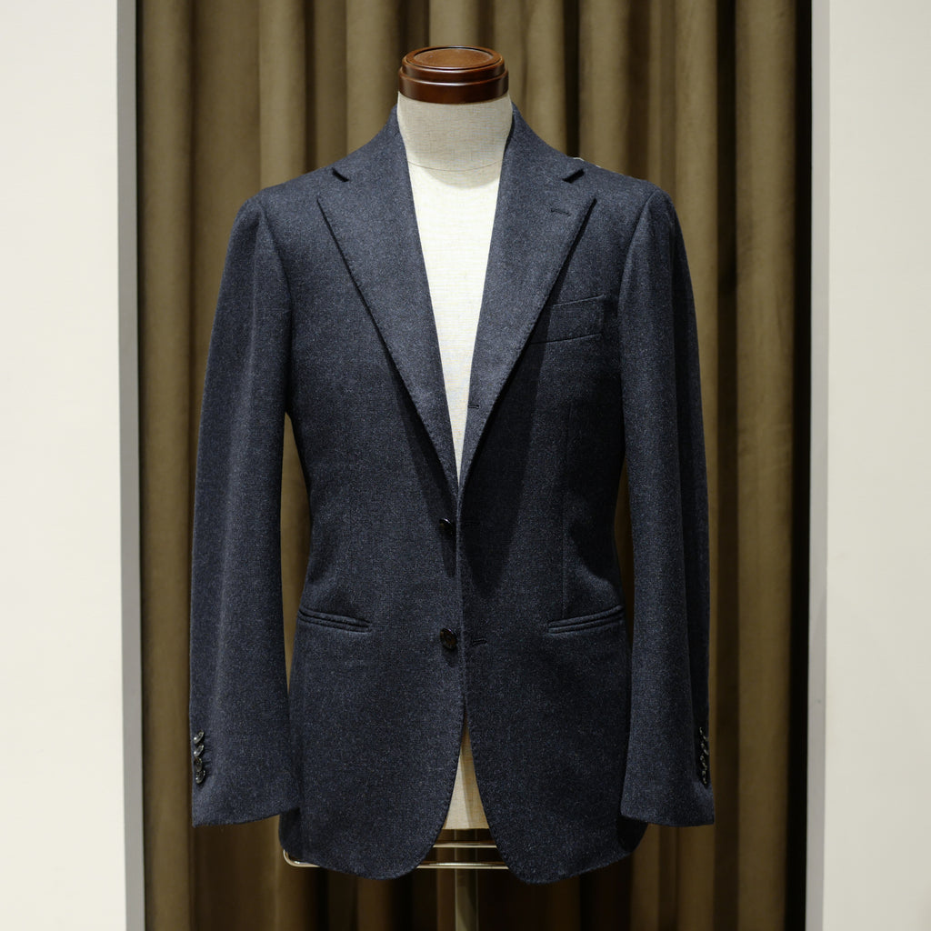 Navy Micro Pattern Flannel Suit