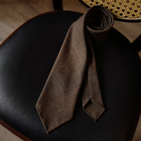 Dark Walnut Melange Fox Air Tie