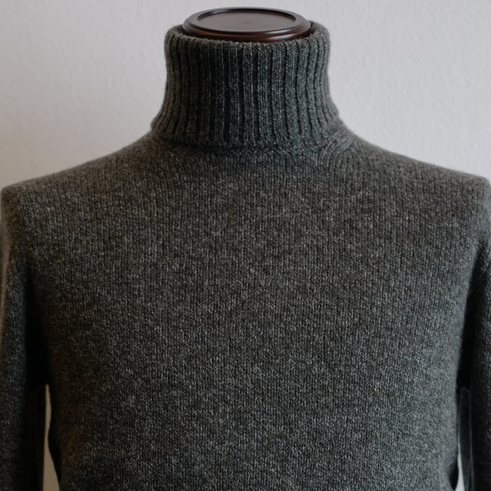 Greyish Green Roll-neck Sweater