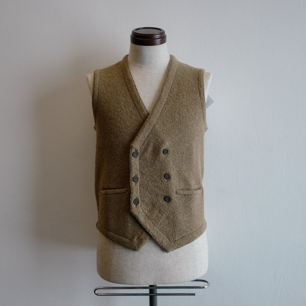 Light Brown Double-breasted Gilet