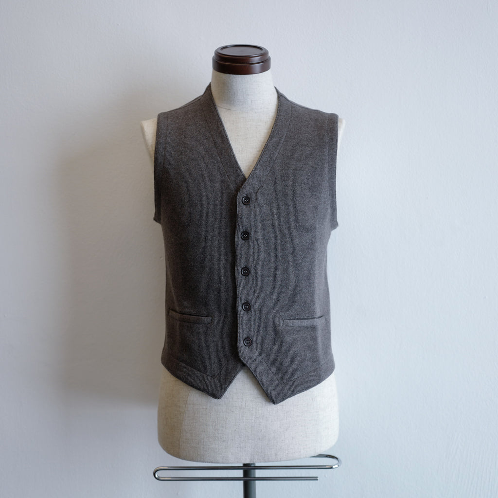 Grey Single-breasted Gilet