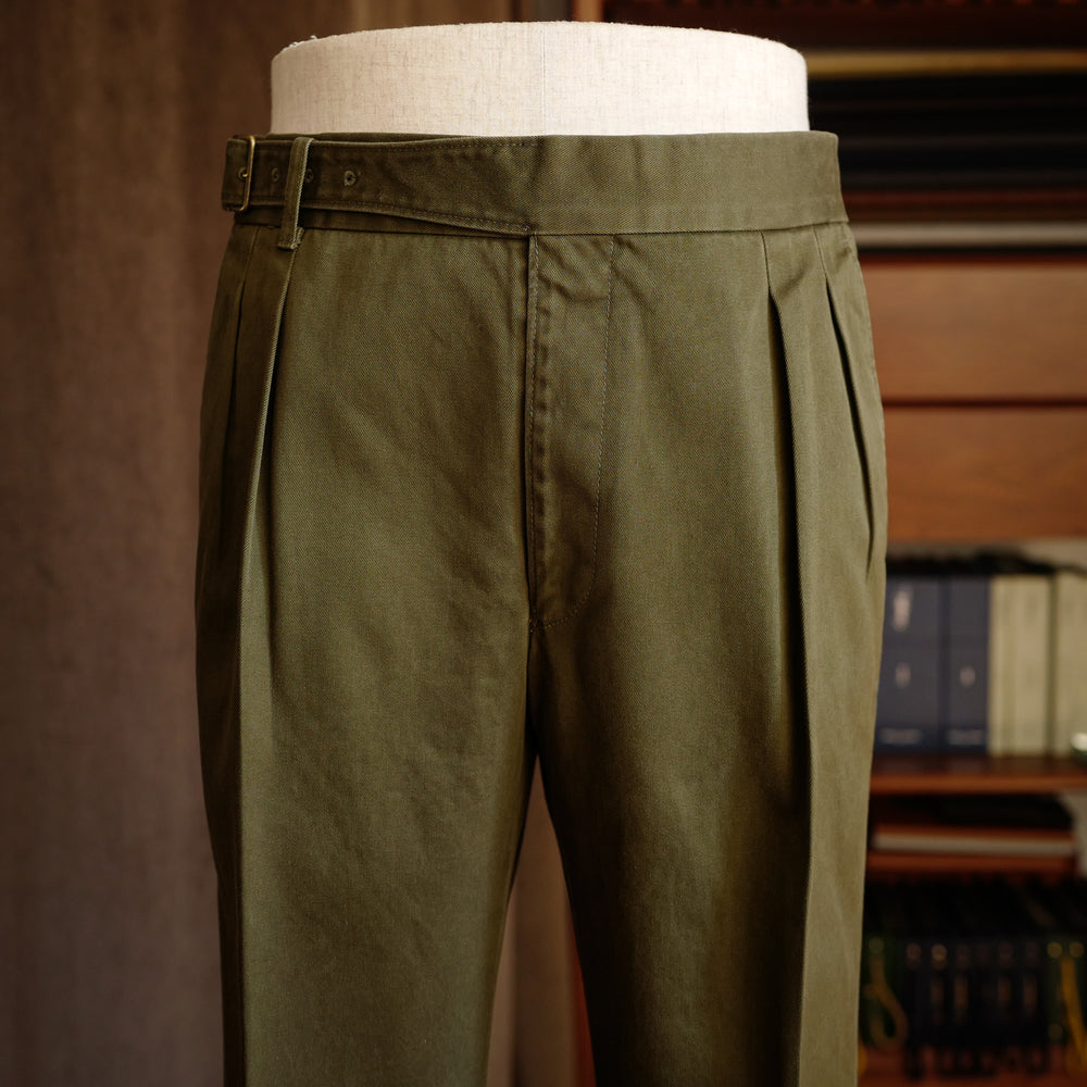 Green Cotton Gurkha Trousers