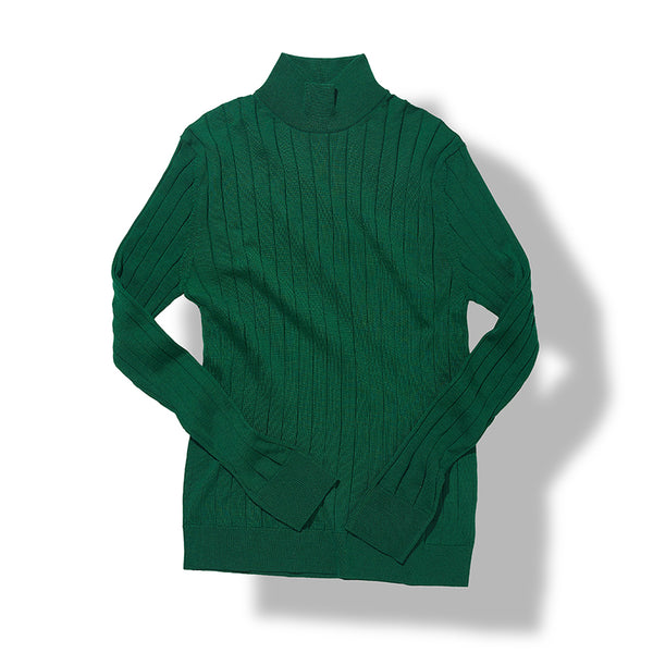 Mock Neck Sweater in Green