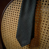 Green Micro-Houndstooth Wool Tie