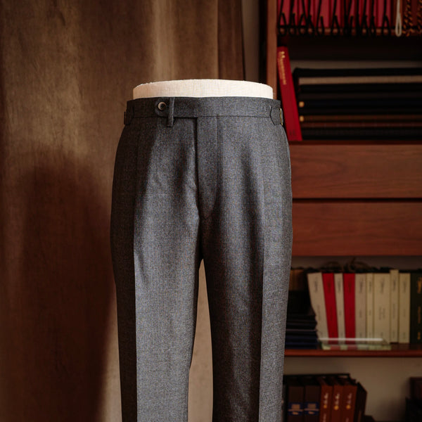 Grey Twill Wool Trousers Mod.2