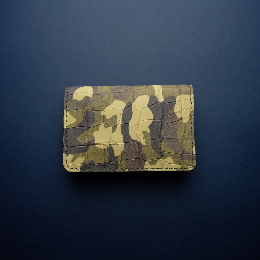 Camouflage Alligator Card Wallet