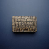 Vintage Brown Alligator Card Wallet