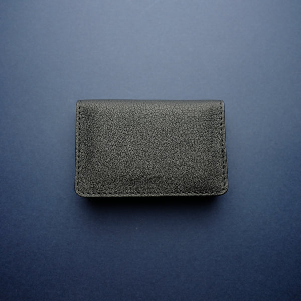 Black Shrunken Calf Card Wallet
