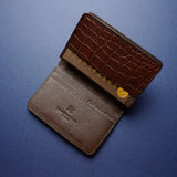 Dark Brown Alligator Card Wallet