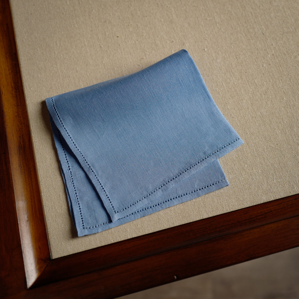 Jour Venise Pocket Square in Blue