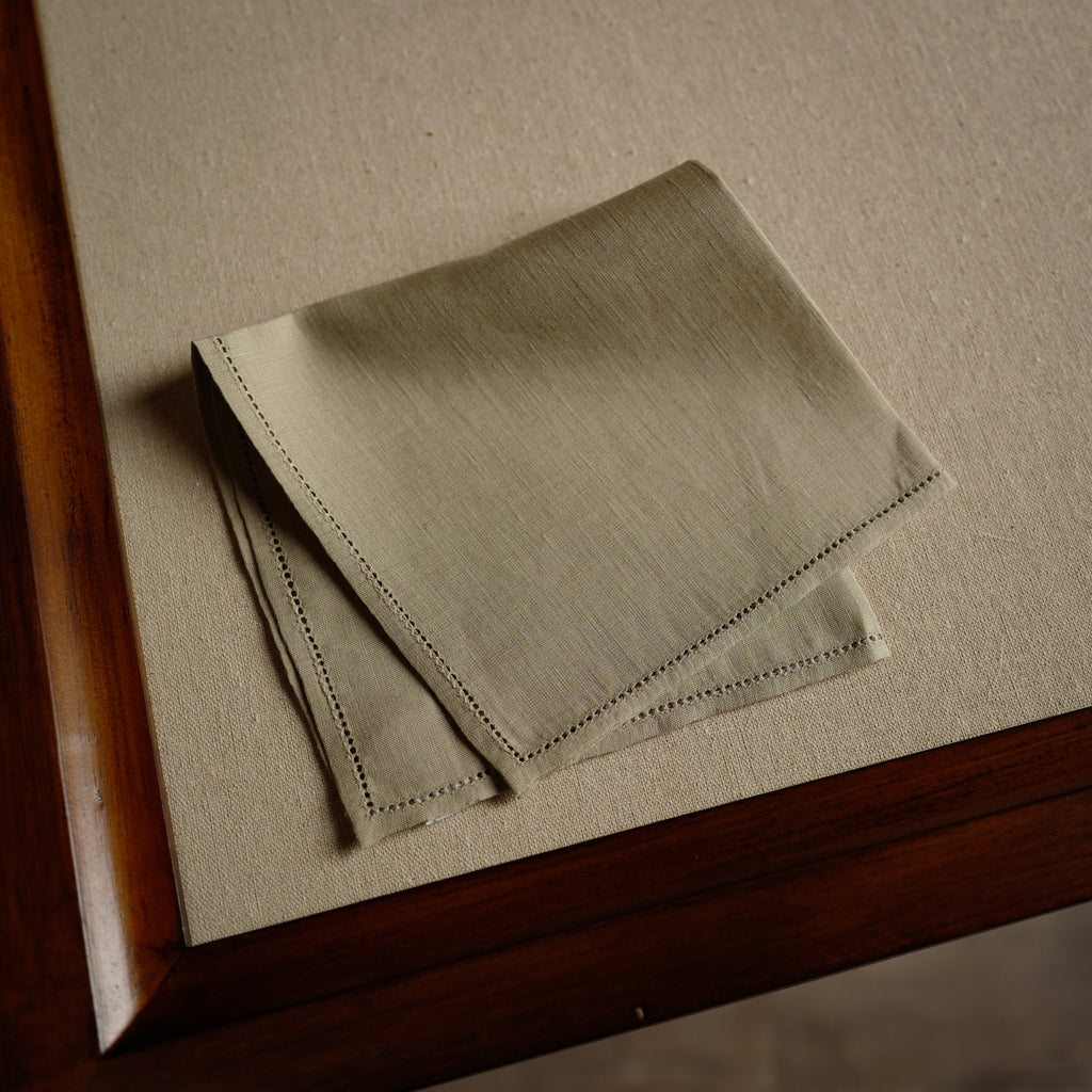 Jour Venise Pocket Square in Khaki