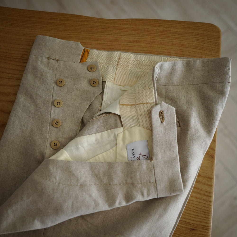 Light Beige Linen Trousers