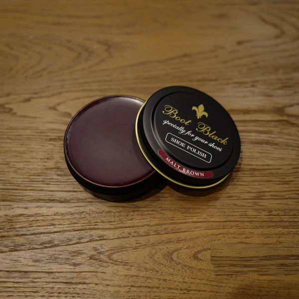 Malt Brown Shoe Polish Wax