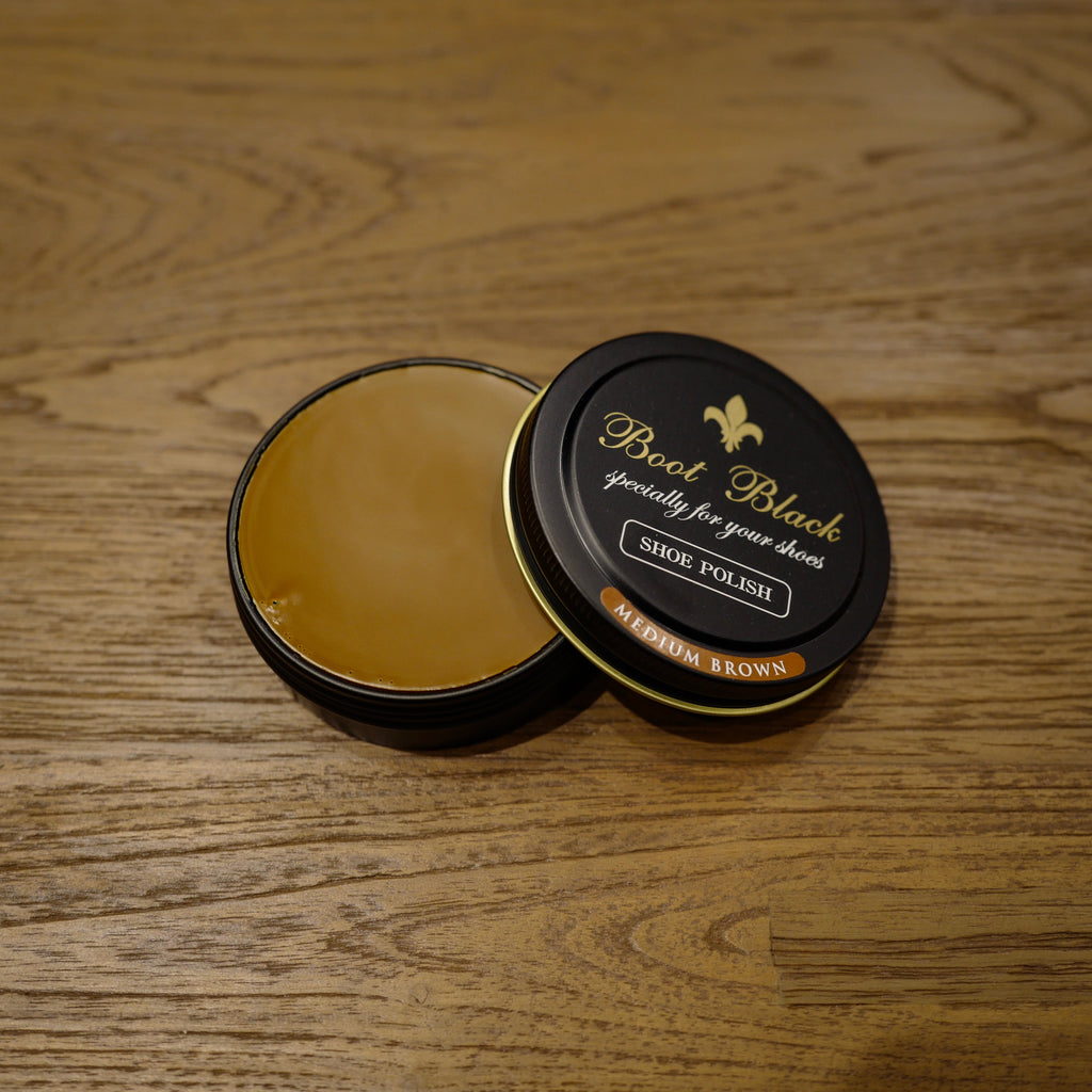 Medium Brown Shoe Polish Wax