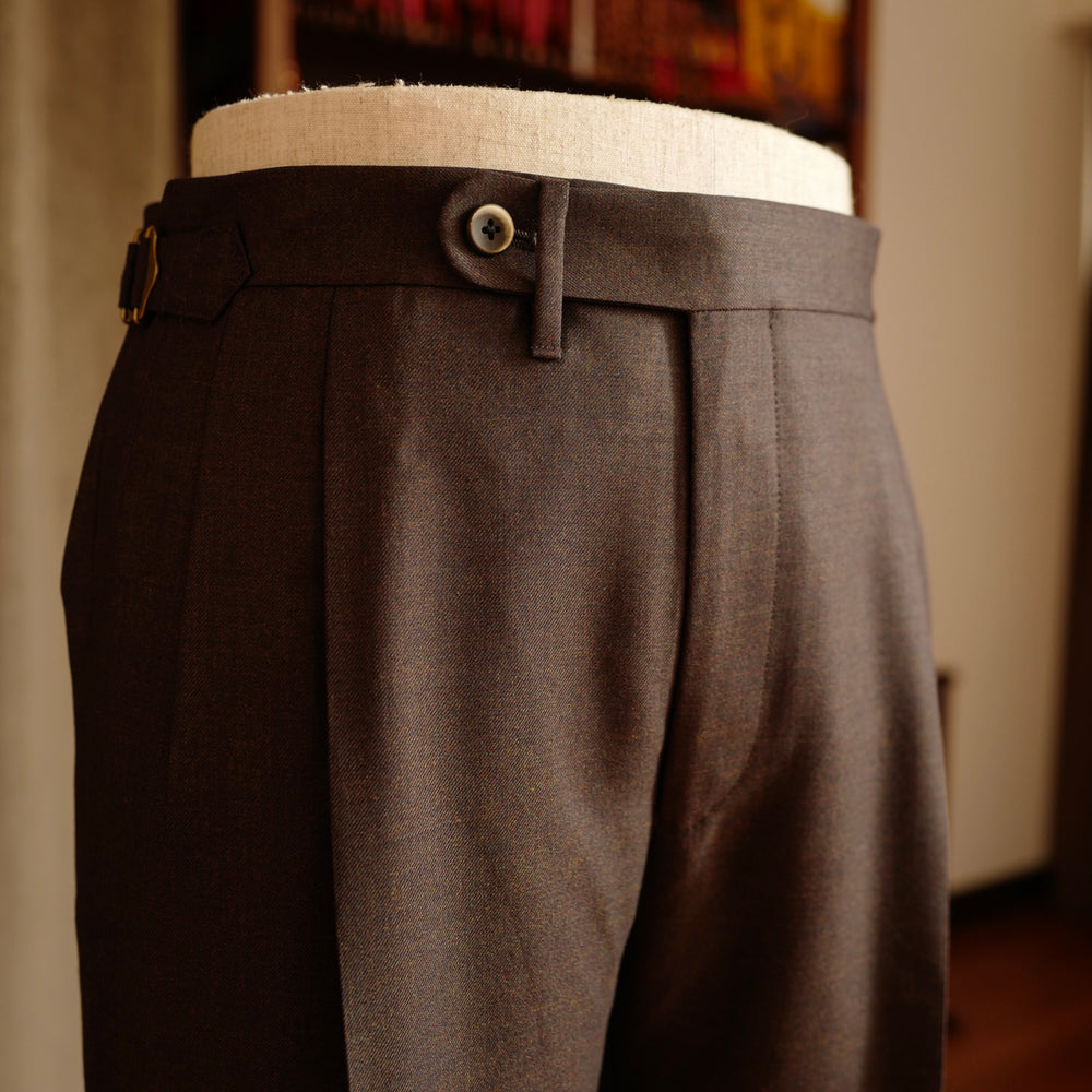 Melange Brown Twill Trousers Mod.2