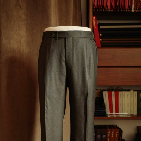 Melange Green Twill Trousers Mod.2