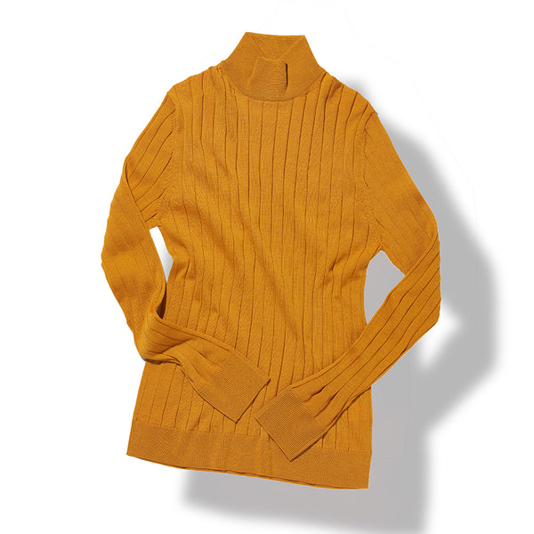 Mock Neck Sweater in Mustard