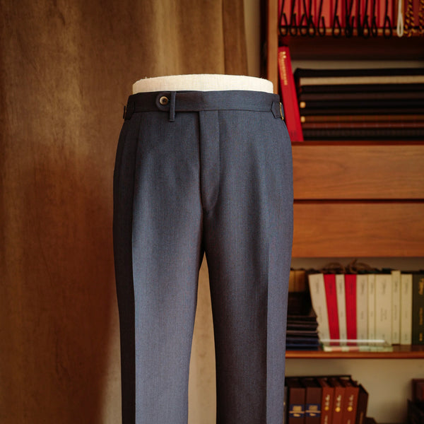 Navy Birdseye Wool Trousers Mod.2