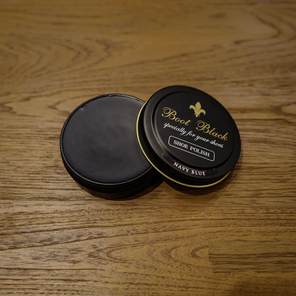 Navy Blue Shoe Polish Wax