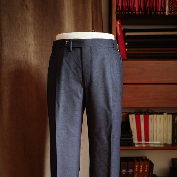 Navy Twill Wool Trousers Mod.2