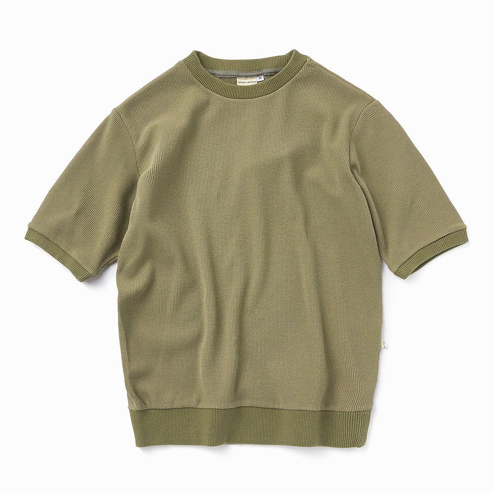 Waffle T-shirt in Olive