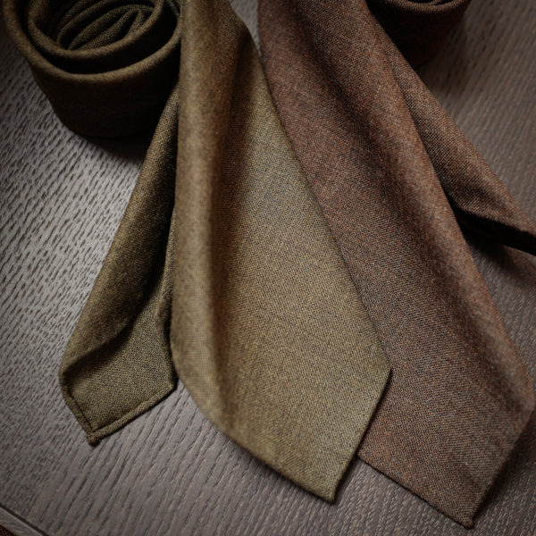 Olive Melange Fox Air Tie