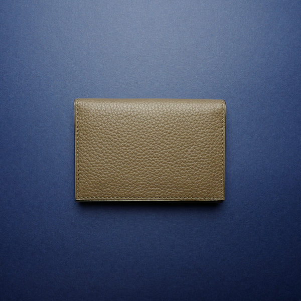 P1021 Card Case in Taupe Calf
