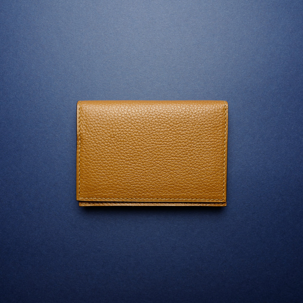 P1021 Card Case in Medium Brown Calf