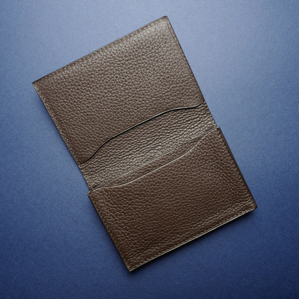 P1021 Card Case in Brown Python