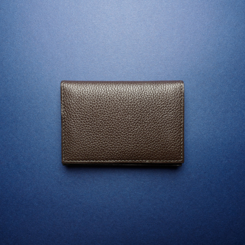 P1021 Card Case in Dark Brown Calf
