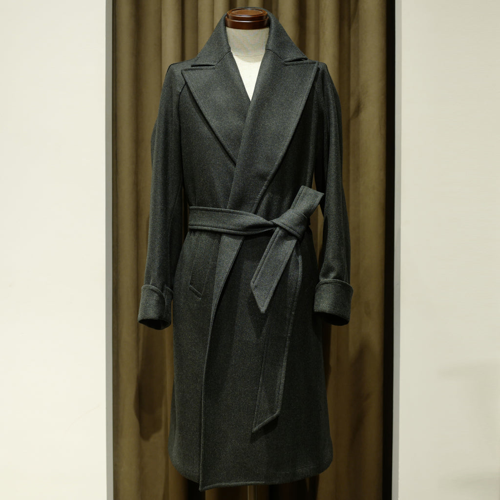 Loden Green Robe Coat