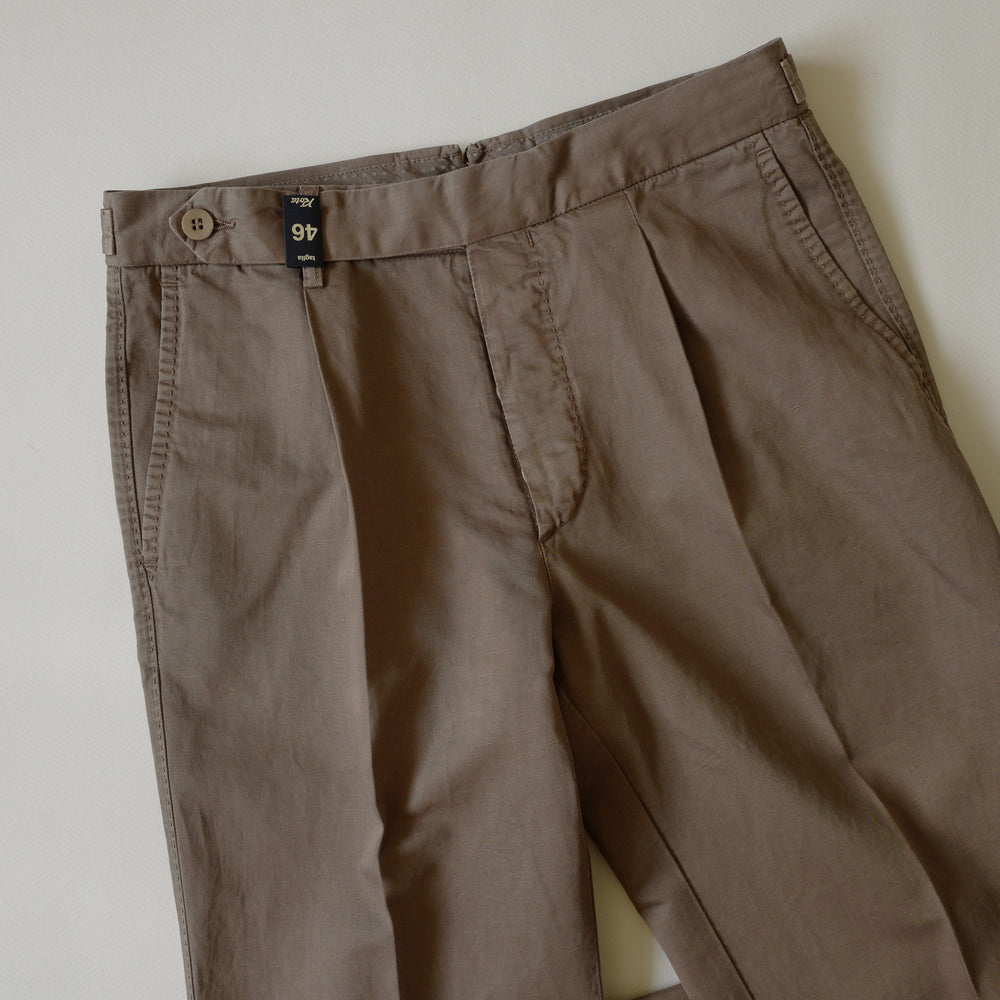 Light Brown Cotton/Linen Trousers