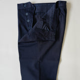 Navy Cotton/Linen Trousers