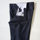 Dark Navy Fresco Wool Trousers