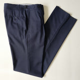 Navy Fresco Wool Trousers