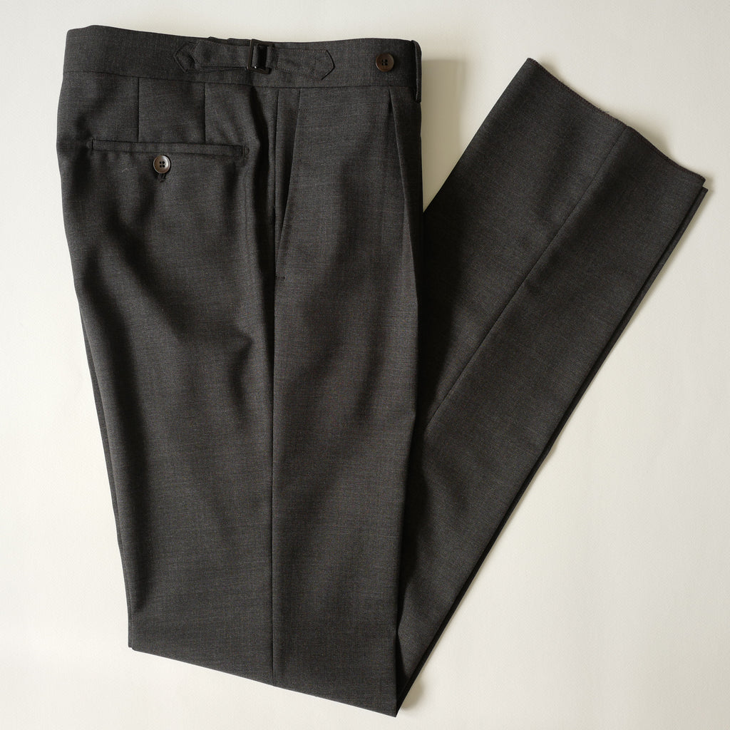 Grey Fresco Wool Trousers