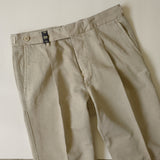 Beige Cotton/Linen Trousers