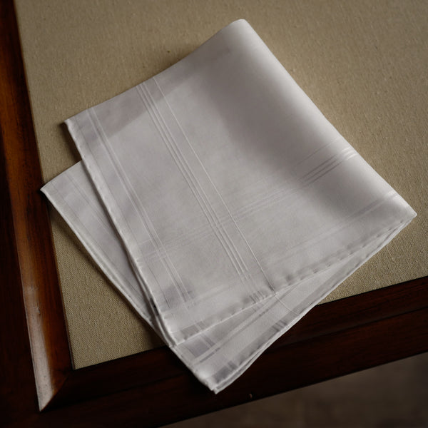 Sarabande Pocket Square in White