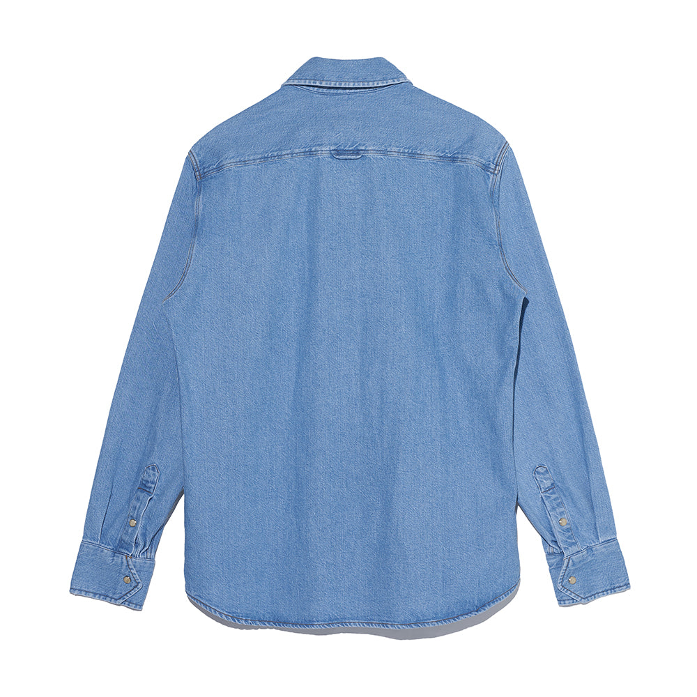 Denim Shirt in Light Blue