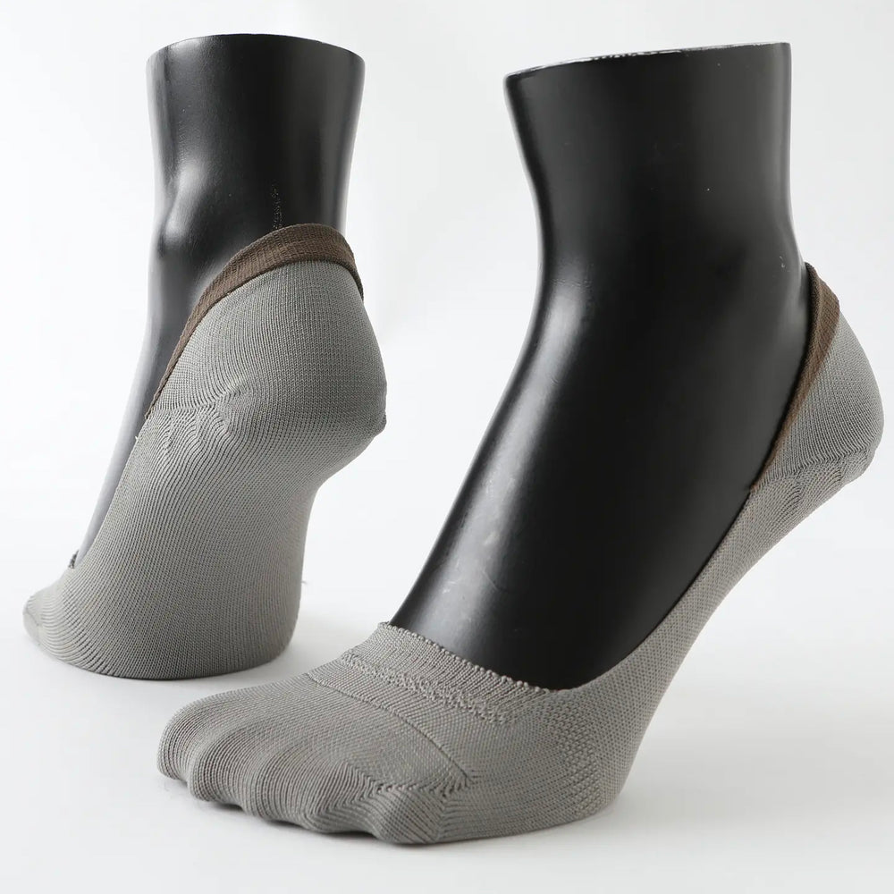 Taupe no-show Cover Socks