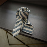 Blue Seven-Fold Woven Regimental Cotton/Silk Tie