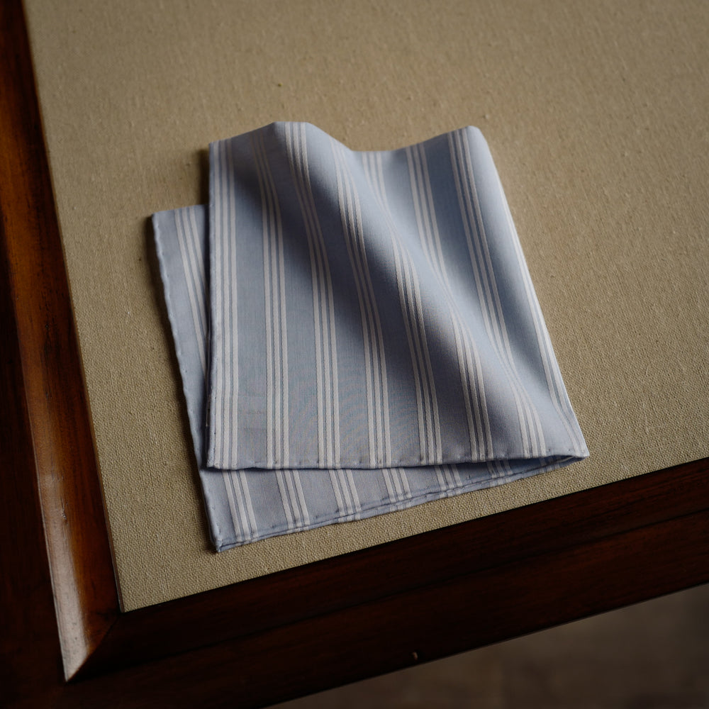 Trianon Pocket Square in Sky Blue