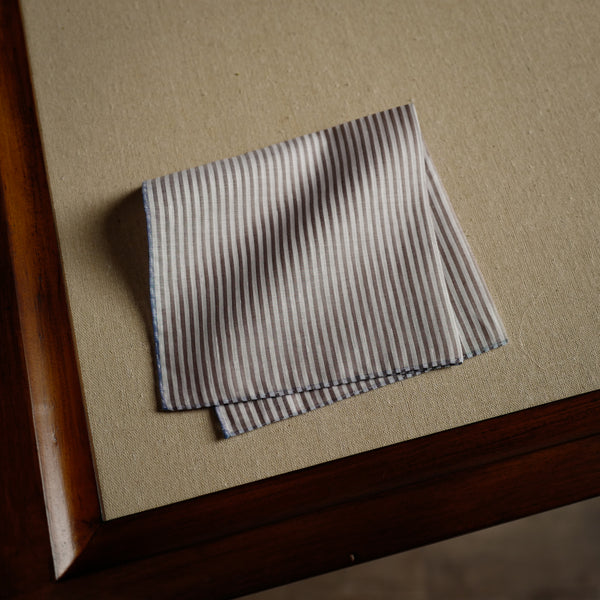 Trouville Pocket Square in Brown