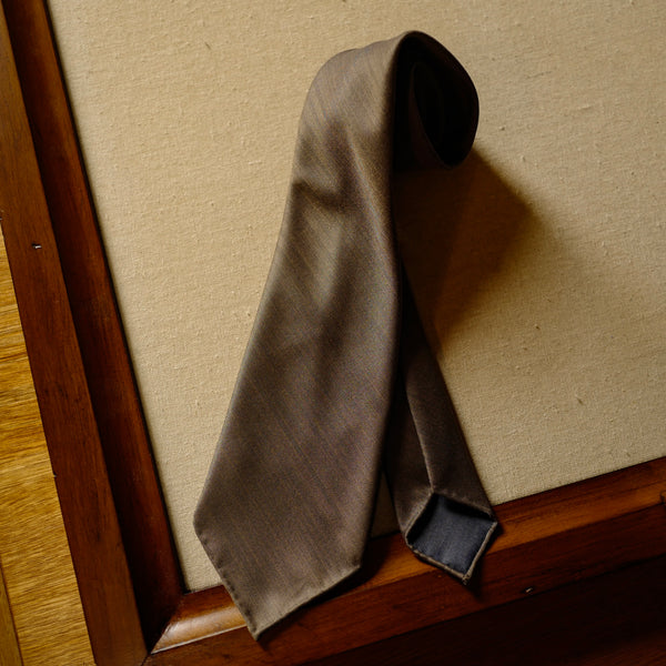 Brown Solaro Wool/Silk Tie