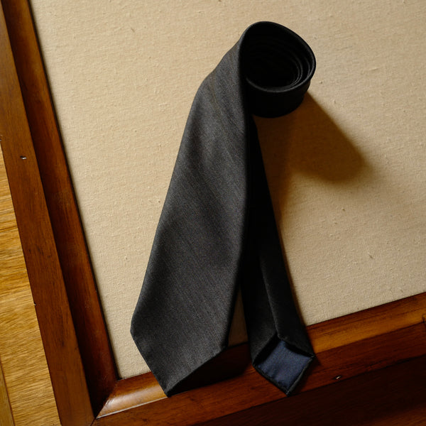 Dark Grey Solaro Wool/Silk Tie