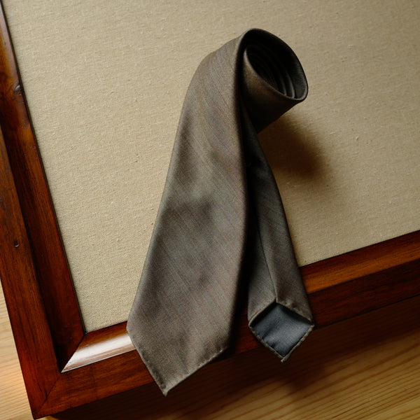 Tan Brown Solaro Wool/Silk Tie