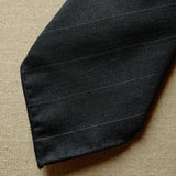 Grey Solaro Wool/Silk Tie with Stripes