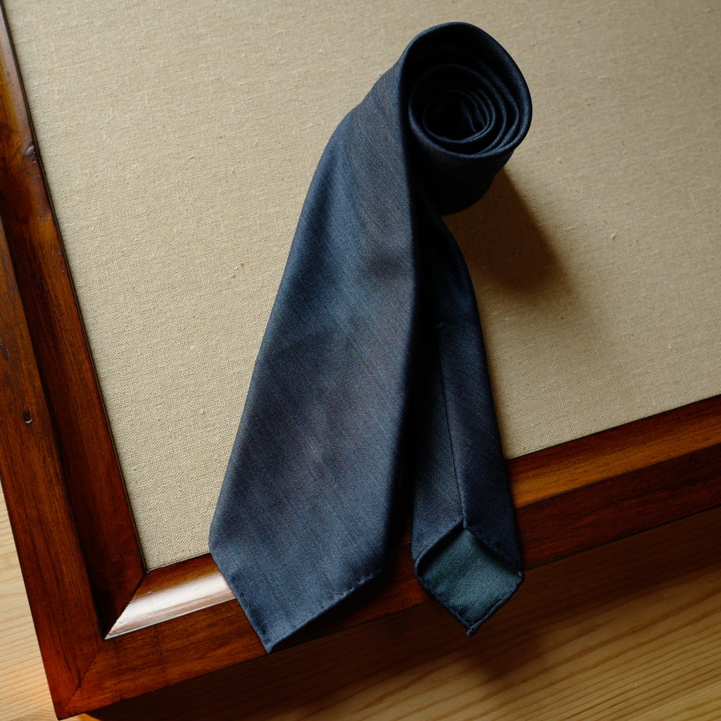 Denim Blue Solaro Wool/Silk Tie